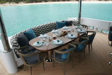 Lower Aft Deck Dining Seating