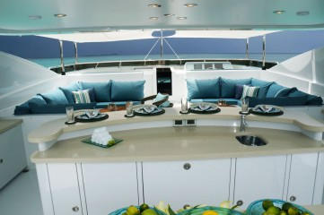 sun deck seating with Euro-Awning