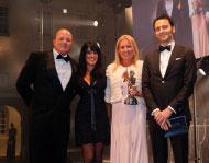 Captain Billy Lockhart, and Yacht Next owner Joanne Lockhart accepting World Superyacht Award